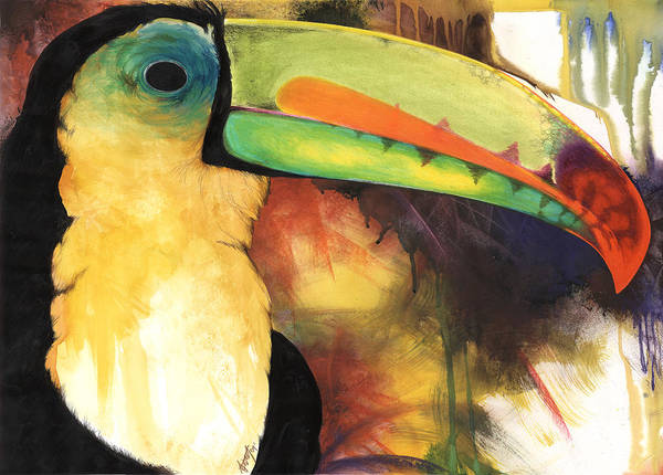 Birds Poster featuring the mixed media Tusanii by Anthony Burks Sr