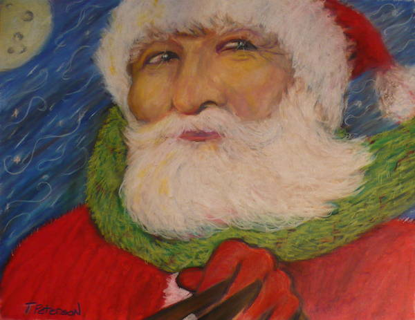Painting Poster featuring the painting Twas The Night Before Christmas by Todd Peterson