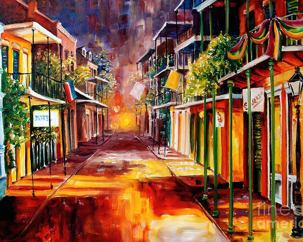 New Orleans Poster featuring the painting Twilight In New Orleans by Diane Millsap