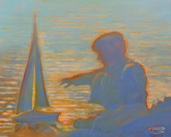 Portrait Poster featuring the painting Twilight Sailor by Kip Decker