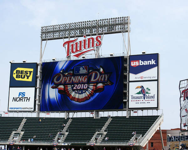Minnesota Poster featuring the photograph Twins Home Opener 2010 by Ron Read