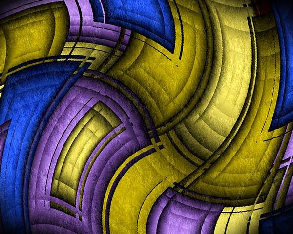 Twisted Poster featuring the digital art Twisted Quilt by Terry Mulligan