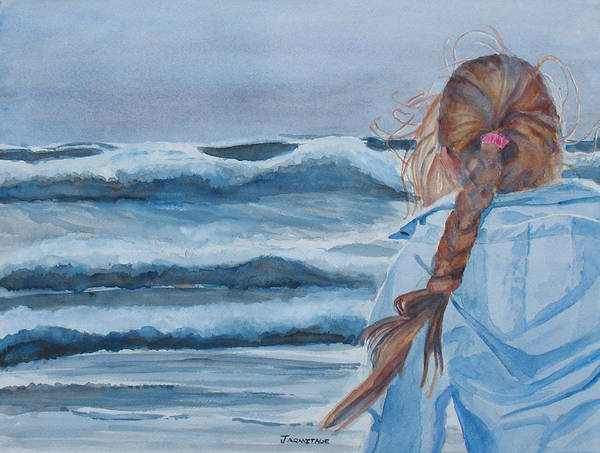 Ocean Poster featuring the painting Twixt Wind And Water II by Jenny Armitage