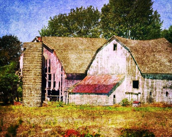 Poster featuring the photograph Two Barns And A Silo by Kim Blaylock