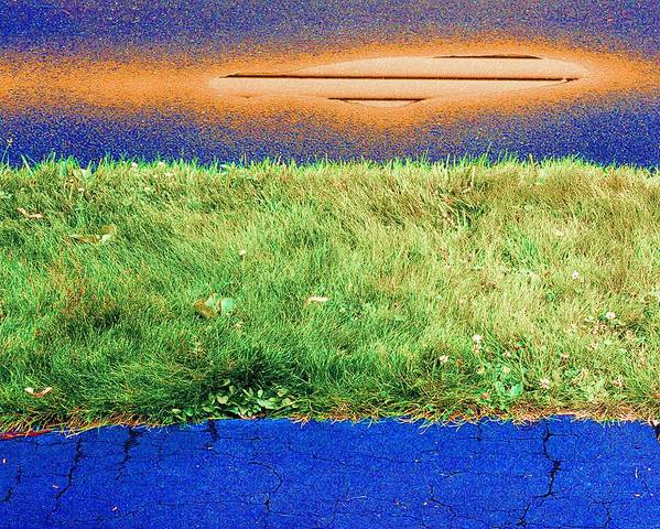 Grass Poster featuring the photograph Two Driveways 2 Sat 2 Pd 2 by Lyle Crump