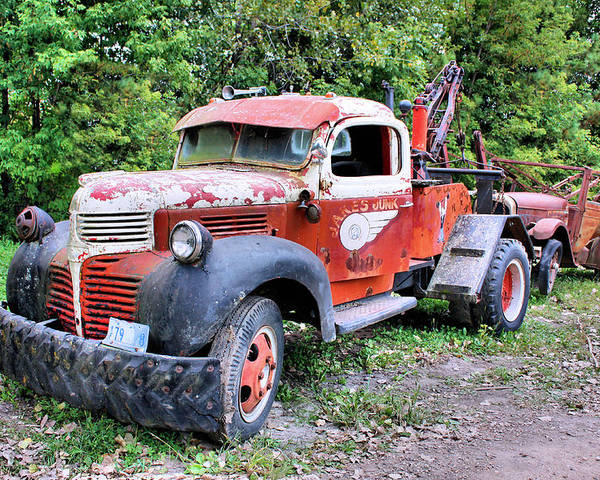 Old Truck Poster featuring the photograph Two for One by Kristin Elmquist