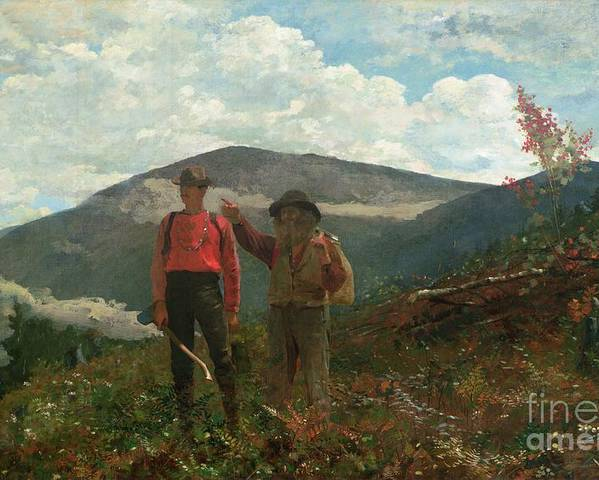 Two Guides Poster featuring the painting Two Guides by Winslow Homer