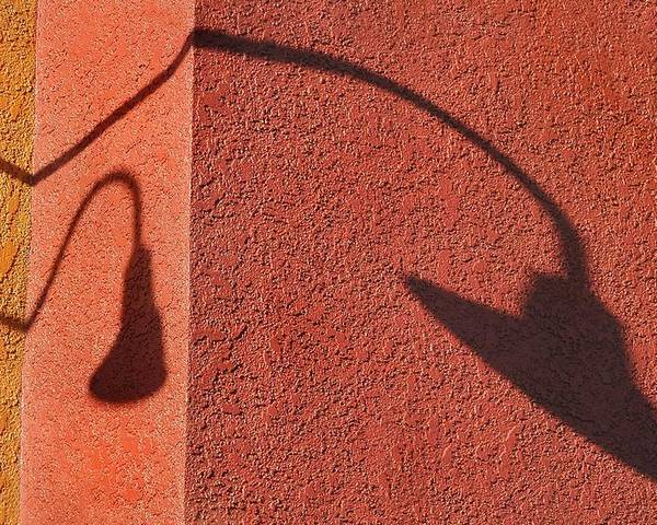 Shadow Poster featuring the photograph Two Lamps by Dan Holm