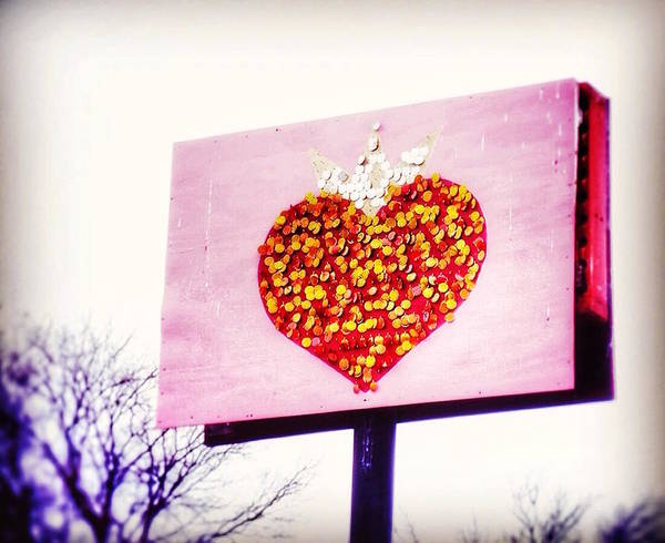 Heart Poster featuring the photograph Tyson's Tacos Heart by Gia Marie Houck