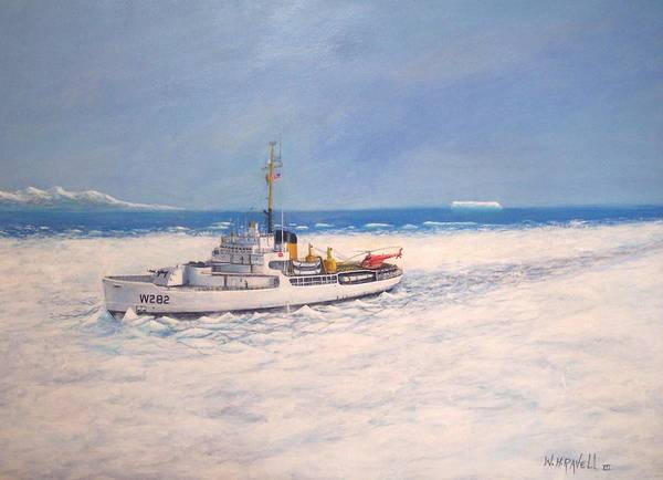 Ships Poster featuring the painting U. S. Coast Guard Icebreaker Northwind by William H RaVell III