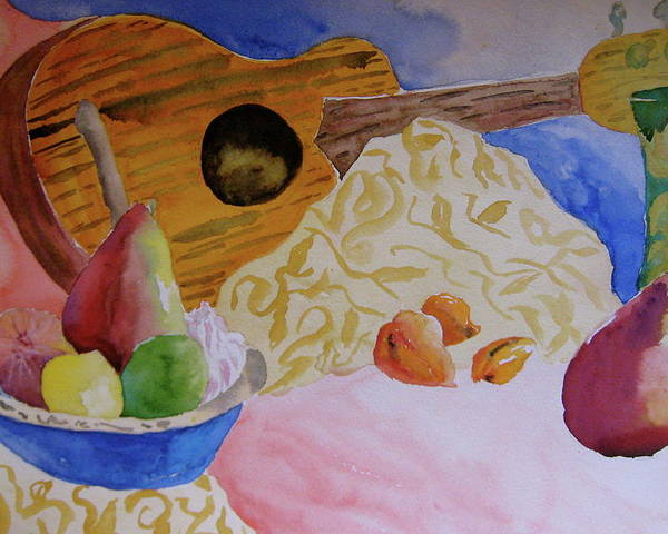 Ukelele Poster featuring the painting Ukelele by Beverley Harper Tinsley