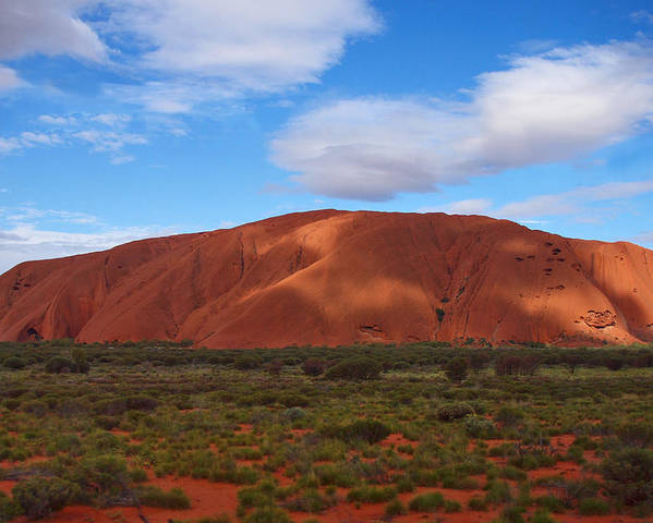 Landscape Poster featuring the photograph Uluru by Pamela Kelly Phillips