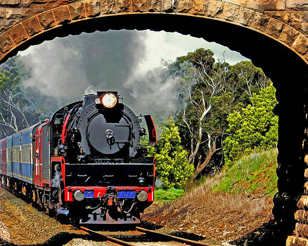 Train Poster featuring the photograph Under Steam by Andrew Simmonds