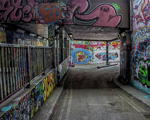 Graffiti Poster featuring the photograph Under The Bridge by Martin Newman