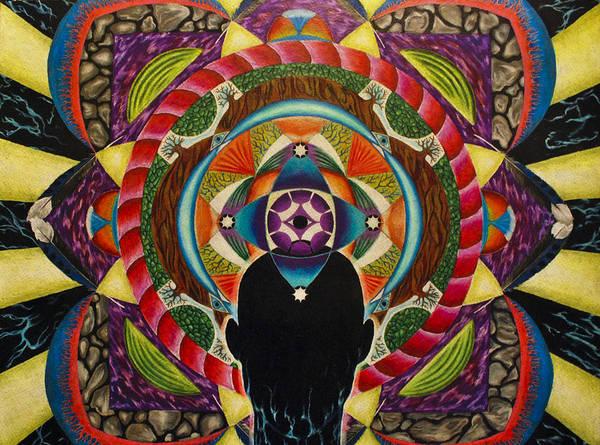 Spirit Poster featuring the drawing Unfolding Spirit by Matthew Fredricey