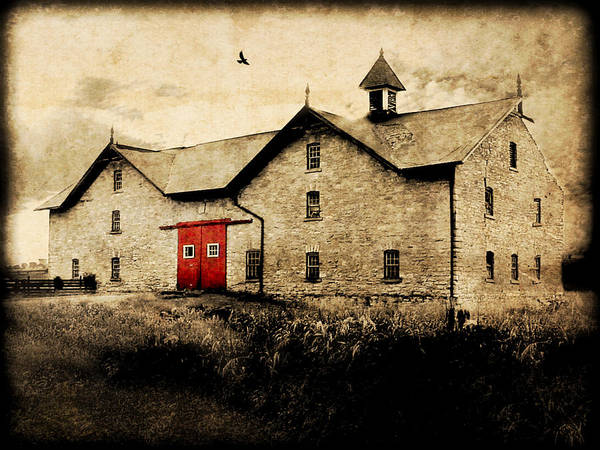 Brick Poster featuring the photograph Uni Barn by Julie Hamilton