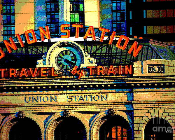Denver Poster featuring the photograph Union Station by Christine Zipps