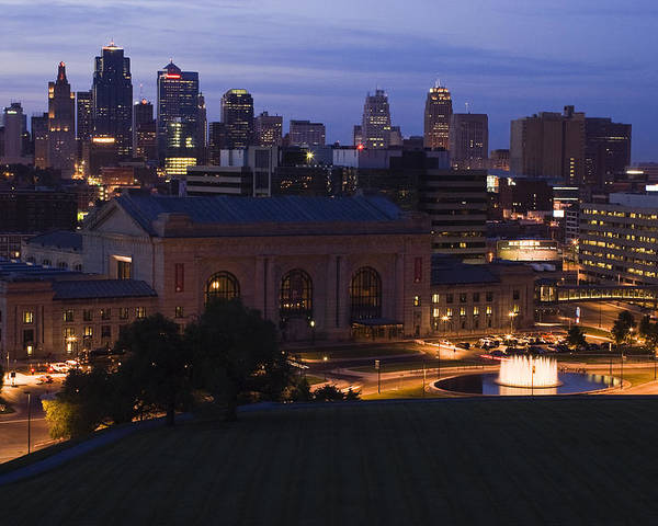 Union Station Poster featuring the photograph Union Station Kansas City by Chad Davis