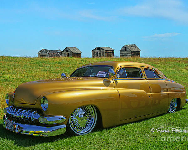 Cars Poster featuring the photograph Unique Gold Street Rod by Randy Harris
