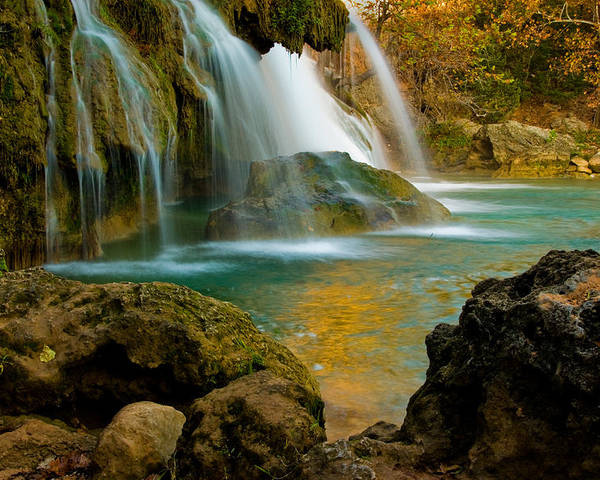 Landscape Poster featuring the photograph Unite Perspective of Turner Falls by Iris Greenwell