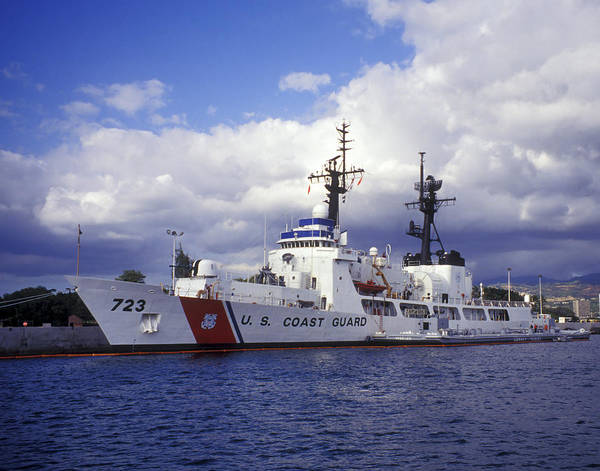 Coast Guard Poster featuring the photograph United States Coast Guard Cutter Rush by Michael Wood