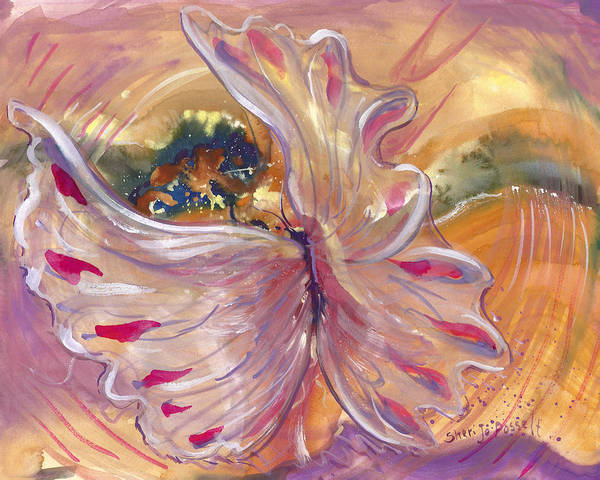 Universal Cacoon Poster featuring the painting Universal Cacoon by Sheri Jo Posselt