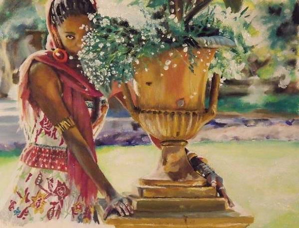 African American Art Poster featuring the painting Untitled by Baroquen Krafts