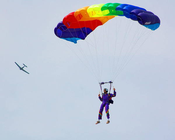 Parachute Poster featuring the photograph Untitled by Jennifer Englehardt