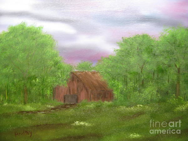 Barn Poster featuring the painting Untitled by Todd Androy