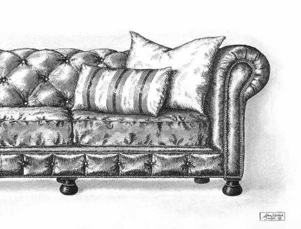 Art Poster featuring the drawing Upholstered by Adam Zebediah Joseph