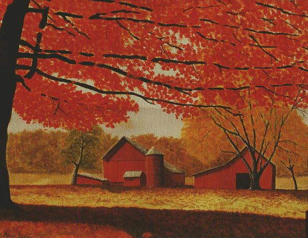 Fall Poster featuring the painting Upstate Autumn by Mark Regni