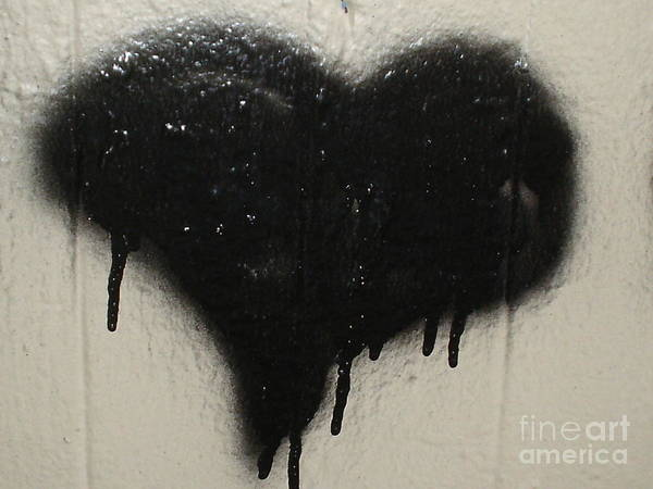 Black Heart Poster featuring the photograph Urban Love by Chandelle Hazen
