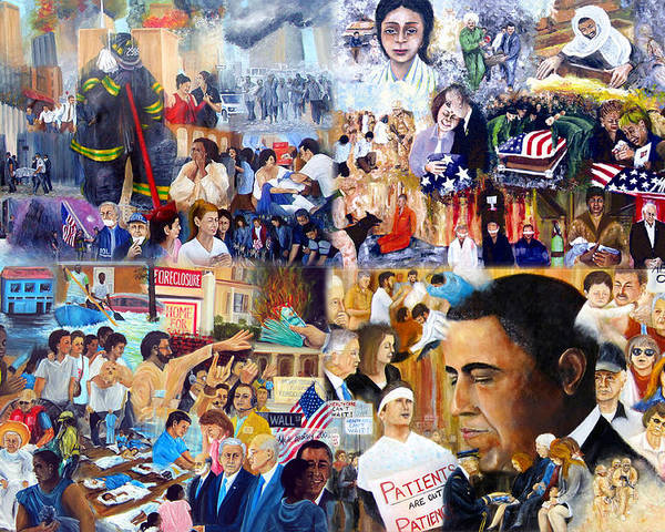 Katrina Poster featuring the painting Us History The First Ten Years 21st Century by Leonardo Ruggieri