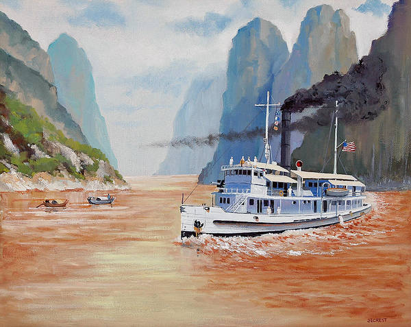 the Sand Pebbles Poster featuring the painting Uss San Pablo On Yangtze River Patrol by Glenn Secrest