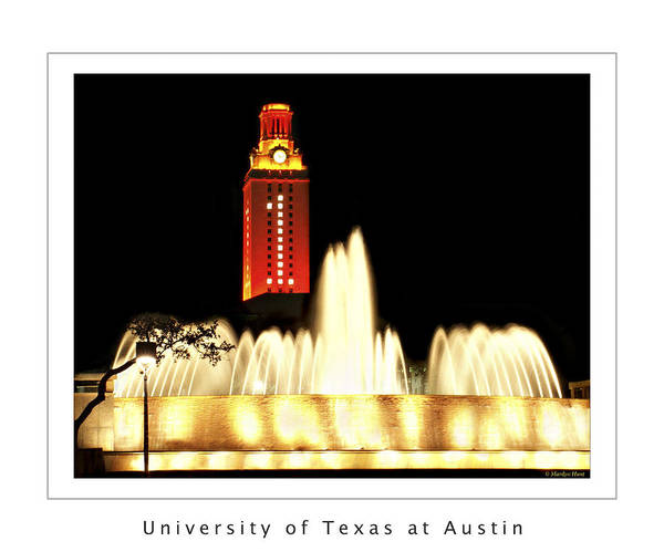 University Texas Austin Poster featuring the photograph Ut Tower Poster by Marilyn Hunt