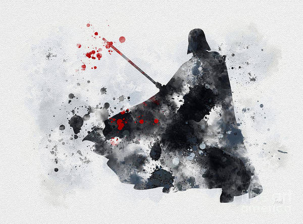Star Wars Poster featuring the mixed media Vader by My Inspiration
