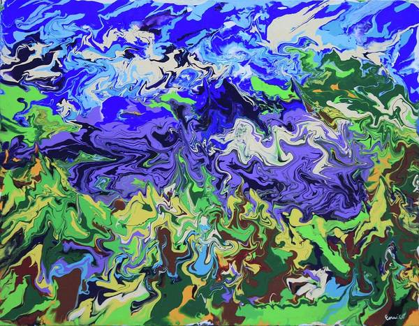 Abstract Expressionism Poster featuring the painting Valley Of The Singing Winds by Art Enrico