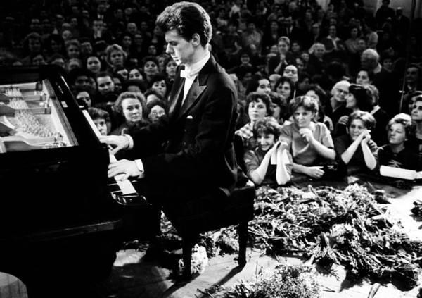 1960s Poster featuring the photograph Van Cliburn Is The First Foreigner by Everett