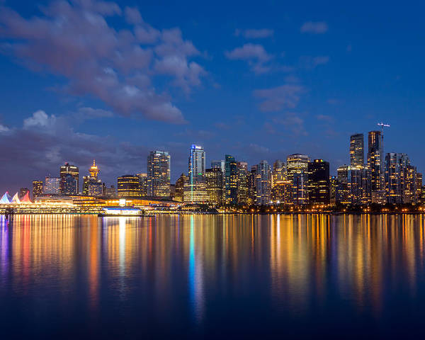 Vancouver Poster featuring the photograph Vancouver City Twilight by Pierre Leclerc Photography