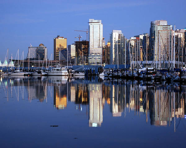 Vancouver Poster featuring the photograph Vancouver Skyline by Alasdair Turner