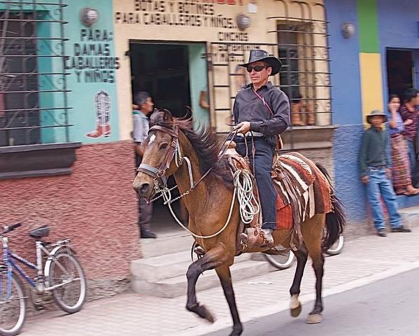 Cowboy Poster featuring the photograph Vaquero En Pastores by Joseph Cosby