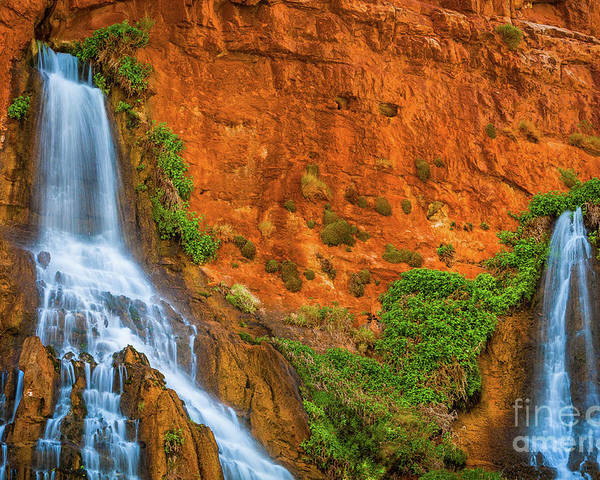 America Poster featuring the photograph Vaseys Paradise Twin Falls by Inge Johnsson