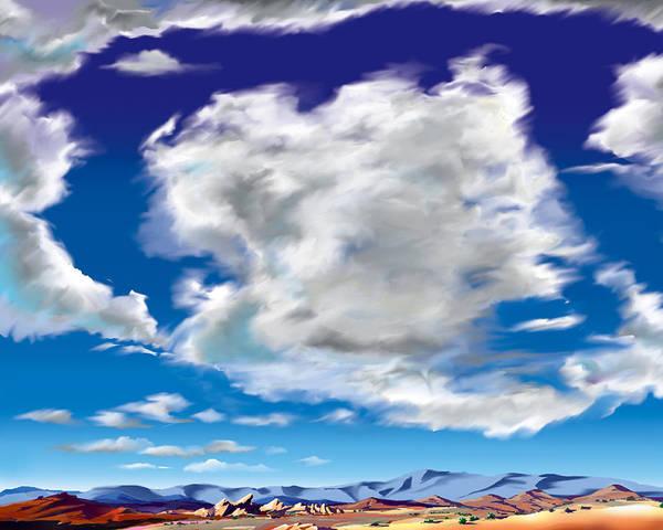 Vasquez Rocks Poster featuring the painting Vasquez Cloud by Steve Beaumont