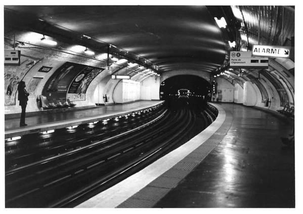 Cityscape Poster featuring the photograph Vavin Station Paris Metro by Gordon Lukesh