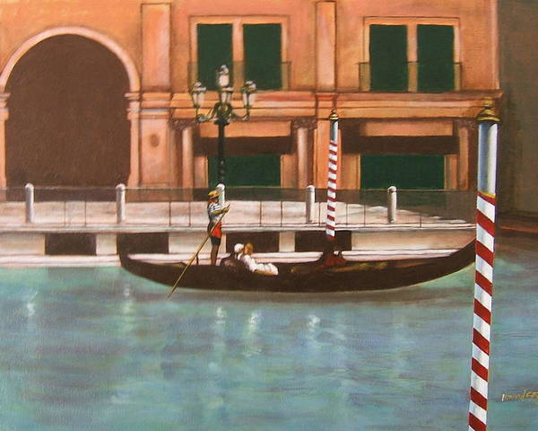 Smooth Sailing Poster featuring the painting Venetian Number Two by Howard Stroman