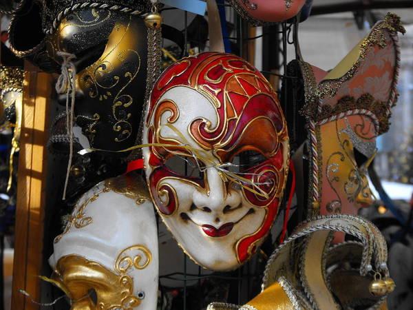 Poster featuring the photograph Venezian Masks by Viviana Puello Villa
