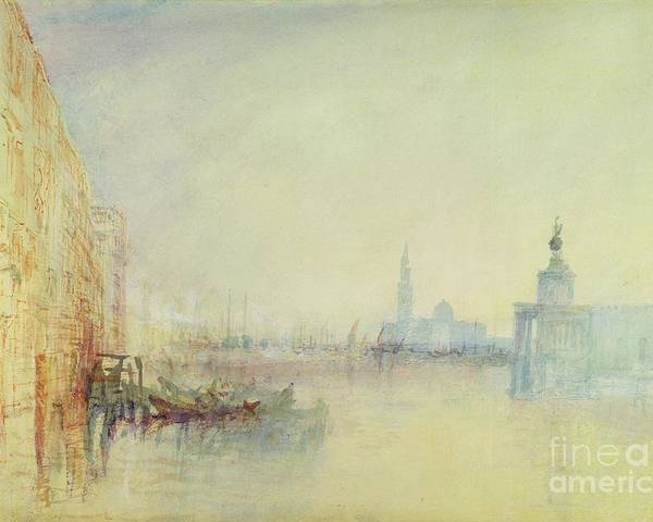 Venice Poster featuring the painting Venice - The Mouth Of The Grand Canal by Joseph Mallord William Turner