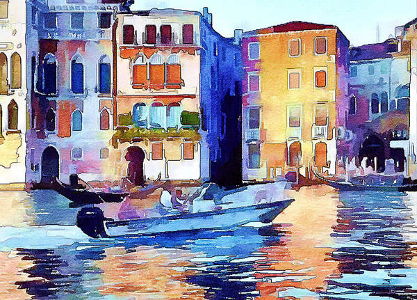 Venice Poster featuring the digital art Venice Beautiful 16 by Yury Malkov