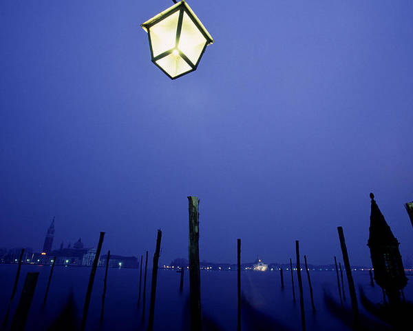 Blue Poster featuring the photograph Venice by Brad Rickerby