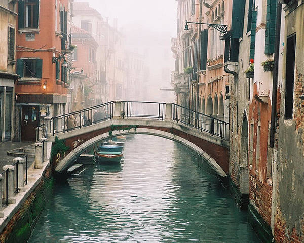 Venice Poster featuring the photograph Venice Canal II by Kathy Schumann